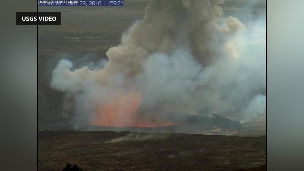 VIDEO: Volcano Rockfall Triggers Explosion