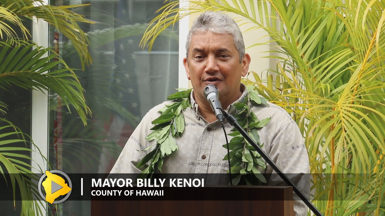 Mayor Billy Kenoi on Nov. 29, 2016