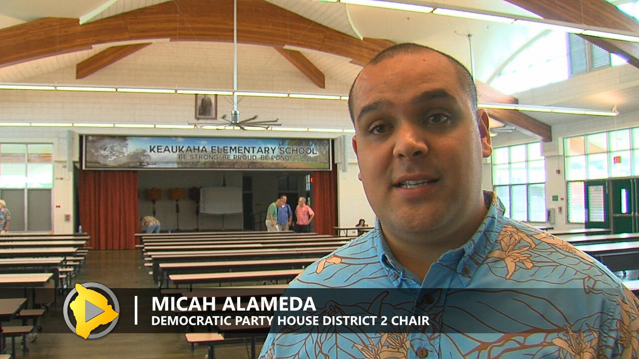 Micah Alameda, House District 2 Chair for the Democratic Party
