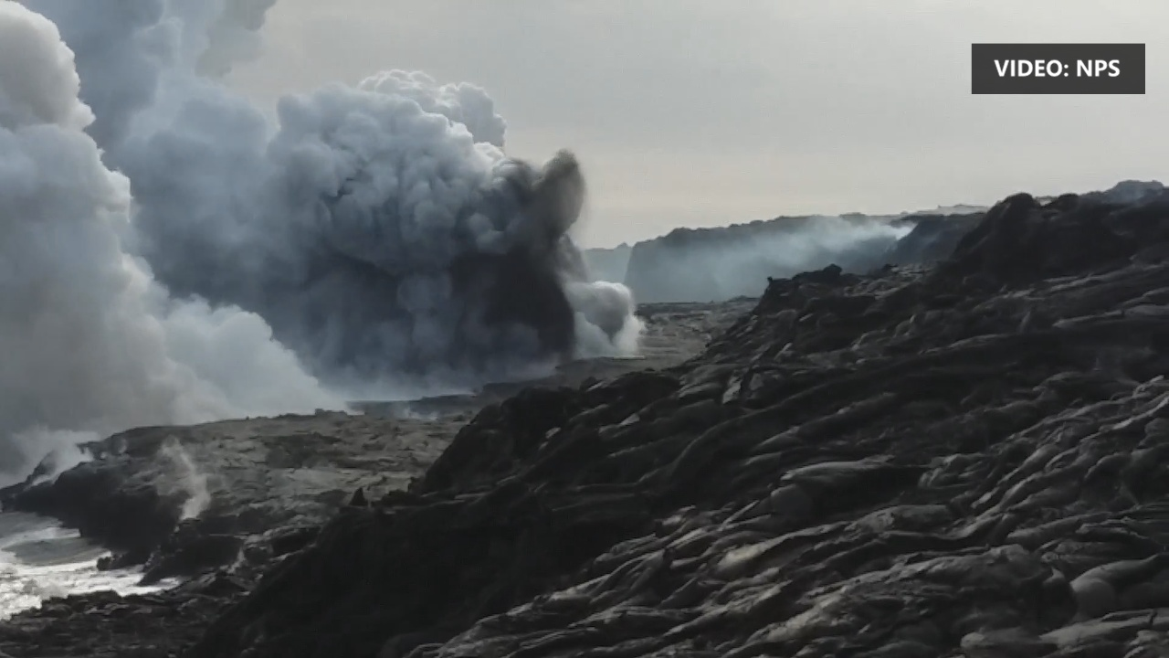 VIDEO: Huge Delta Collapse Closes Lava Viewing Area
