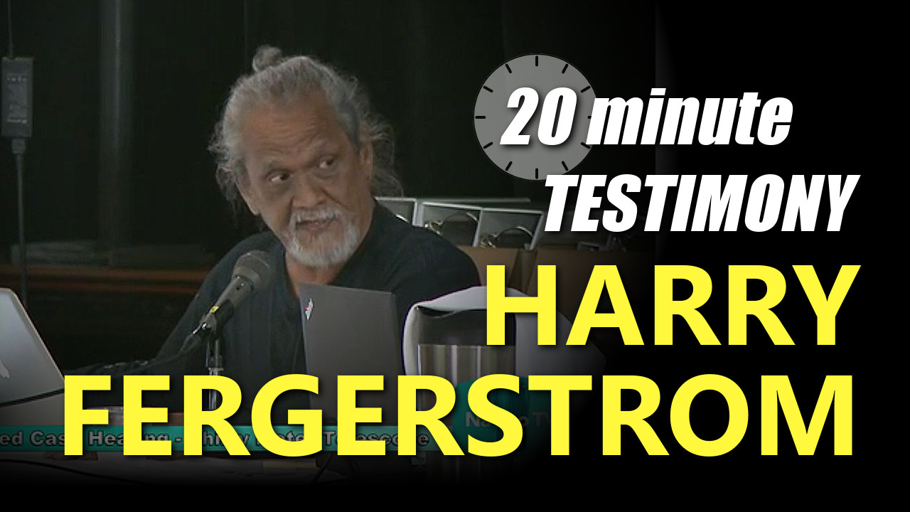 VIDEO: Harry Fergerstrom – TMT Contesed Case Testimony