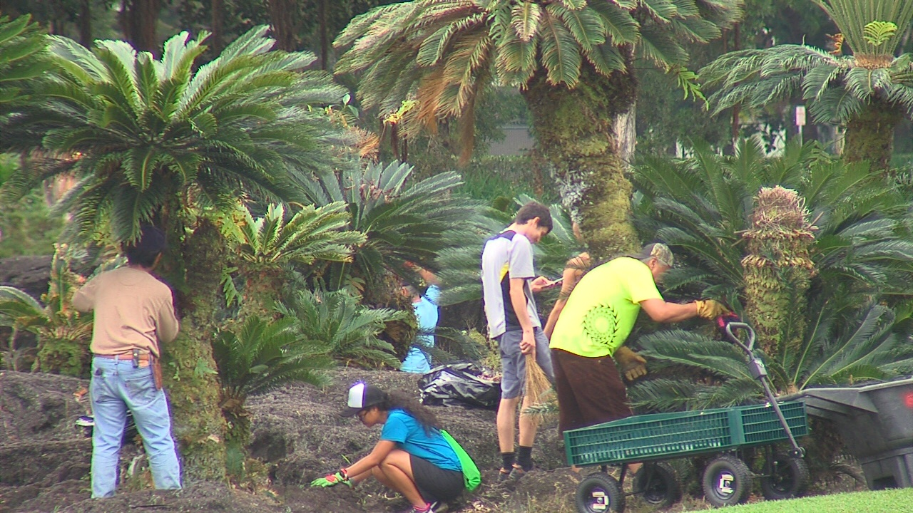 VIDEO: Volunteers Boost Liliuokalani Gardens For Centennial Events