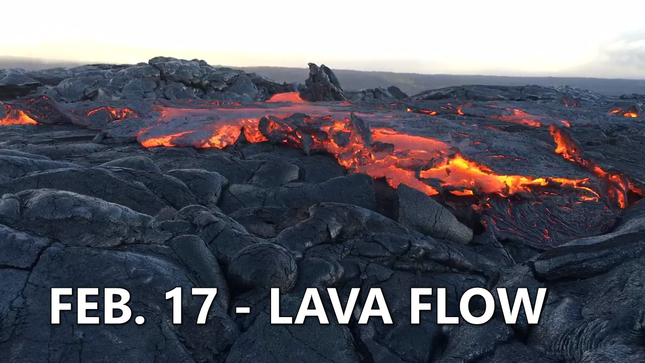 VIDEO: Lava Surface Flows Prompt Civil Defense Reminder