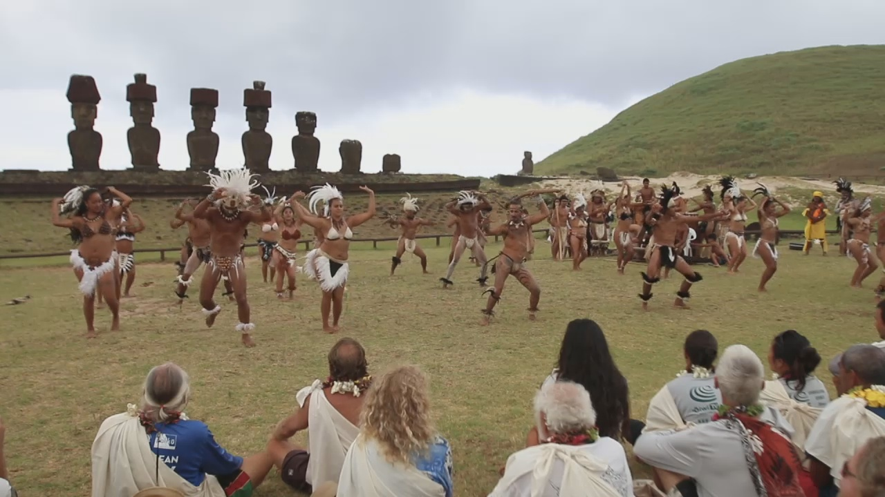 VIDEO: Hokule'a Voyage Celebrated At Rapa Nui