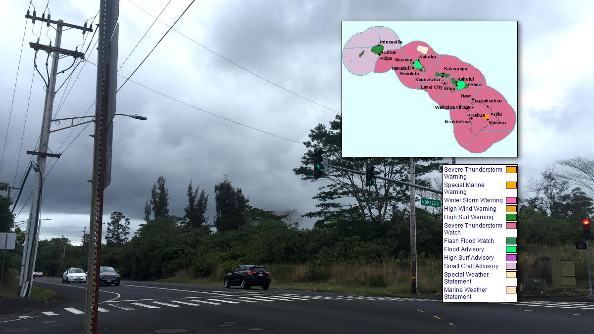 Severe Weather Alerts Light Up Around Hawaii