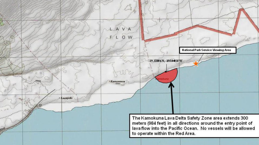 "Coast Guard Establishes ""Safety Zone"" Around Lava Ocean Entry"