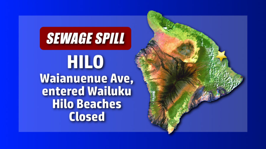 Hilo Beach Parks Closed After Sewage Spill
