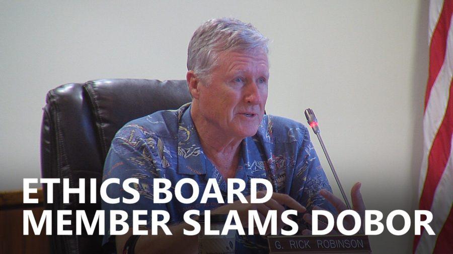 VIDEO: Ethics Board Member Slams DOBOR Admin