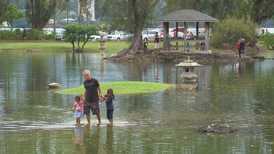 VIDEO: King Tide Rises Around Hilo