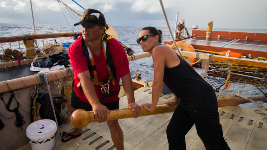 Hokulea, En Route Home To Hawaii, Inspires Waimea