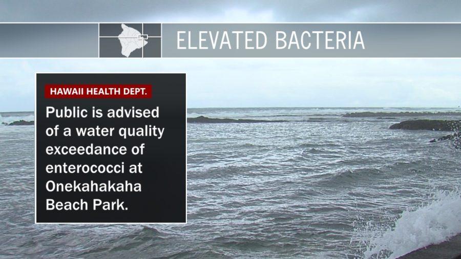 Elevated Bacteria Advisory For Onekahakaha Beach Park