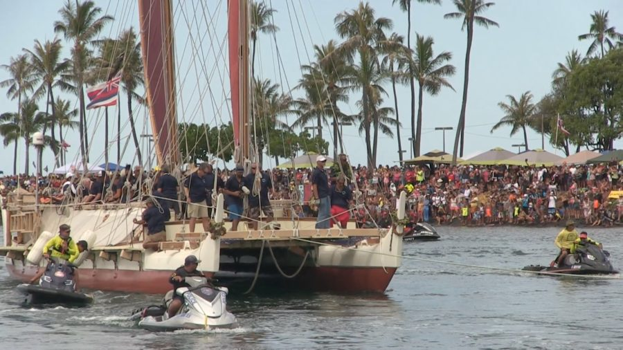 VIDEO: Thousands Cheer Return Of Hokulea To Hawaii