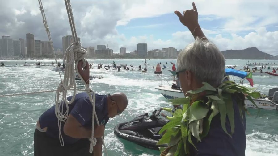 VIDEO: Nainoa Thompson's Epic Hokule'a Return Speech