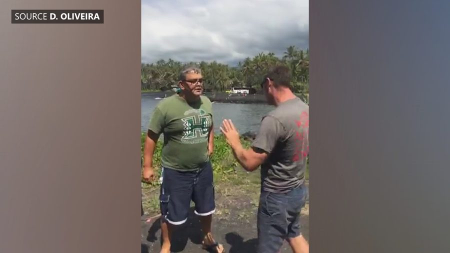 VIDEO: Confrontation Halts Punaluu Excavation