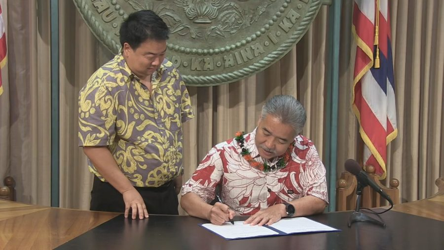 VIDEO: Hawaii Bill Signed To Keep Federal Flood Protection