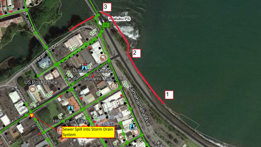 Sewer Spill Reported In Hilo Bay