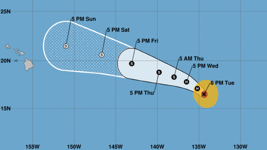 After Surprise Strengthening, Fernanda Weakens Again