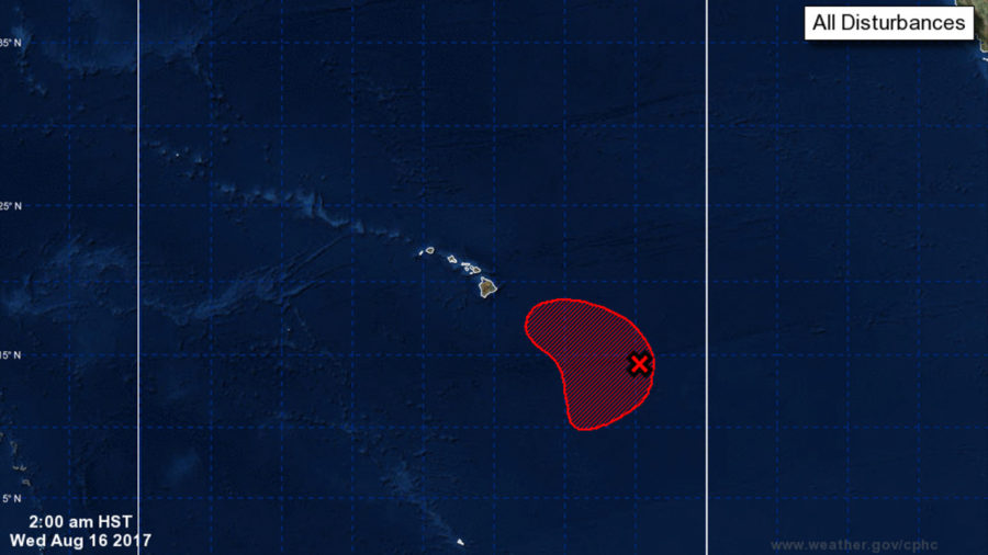 Potential Cyclone Developing Southeast Of Hawaii