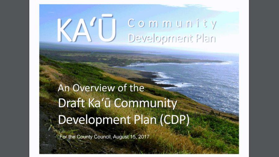 VIDEO: Ka'u Community Development Plan Summarized