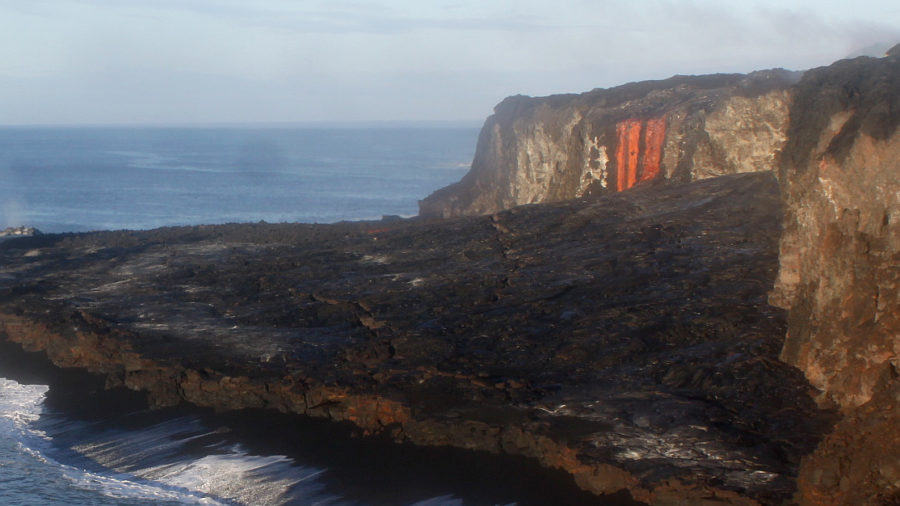Spectacular Lava Falls At Ocean Entry Short Lived