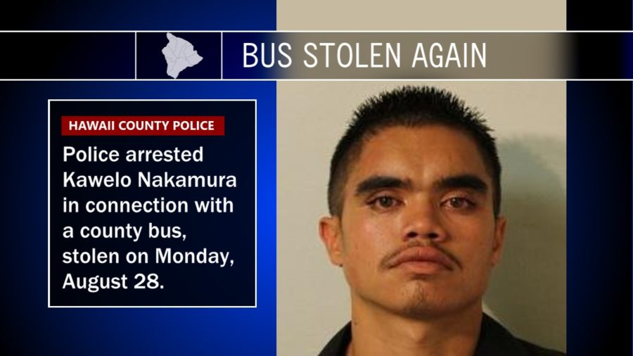 Hilo Man Again Arrested After Second Bus Reported Stolen