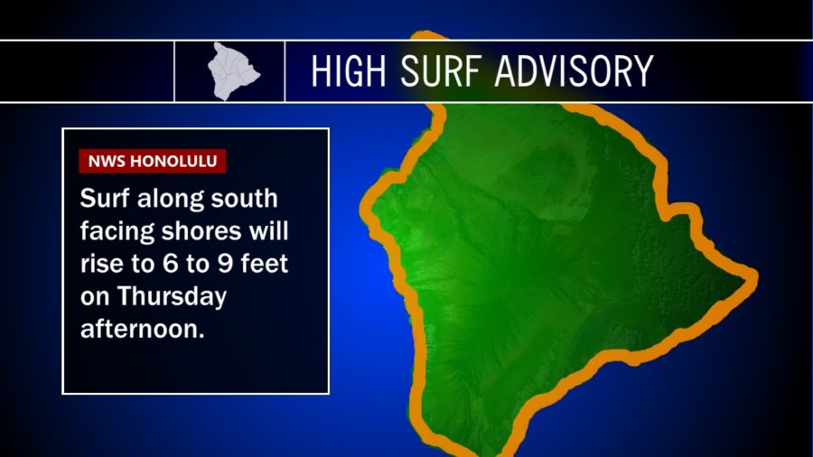 High Surf Advisory In Effect For Hawaii Shores