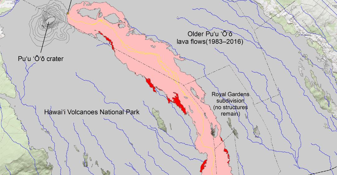 New USGS Map Locates Lava Breakouts On Flow Field Kilauea Map Usgs on east rift zone of kilauea, hawaii kilauea, first eruption of mount kilauea, last eruption of kilauea, volcano kilauea,