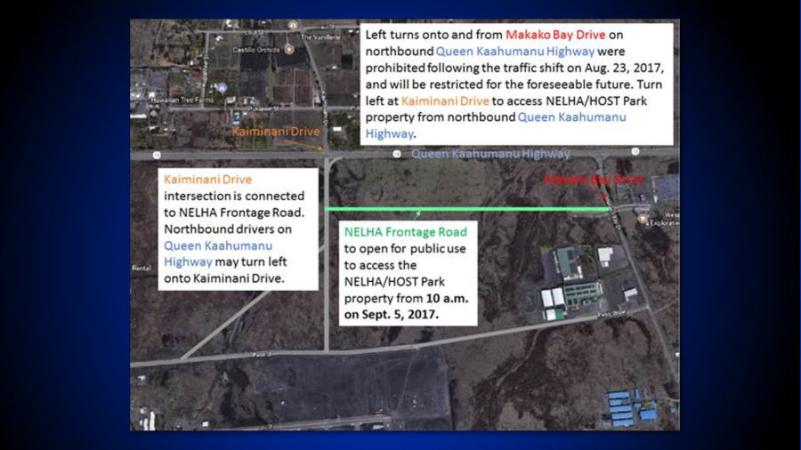 Queen Kaahumanu: NELHA Frontage Road Opens Sept. 5