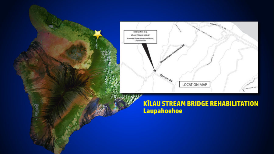 Kilau Stream Bridge Work In Laupahoehoe Begins Sept. 11