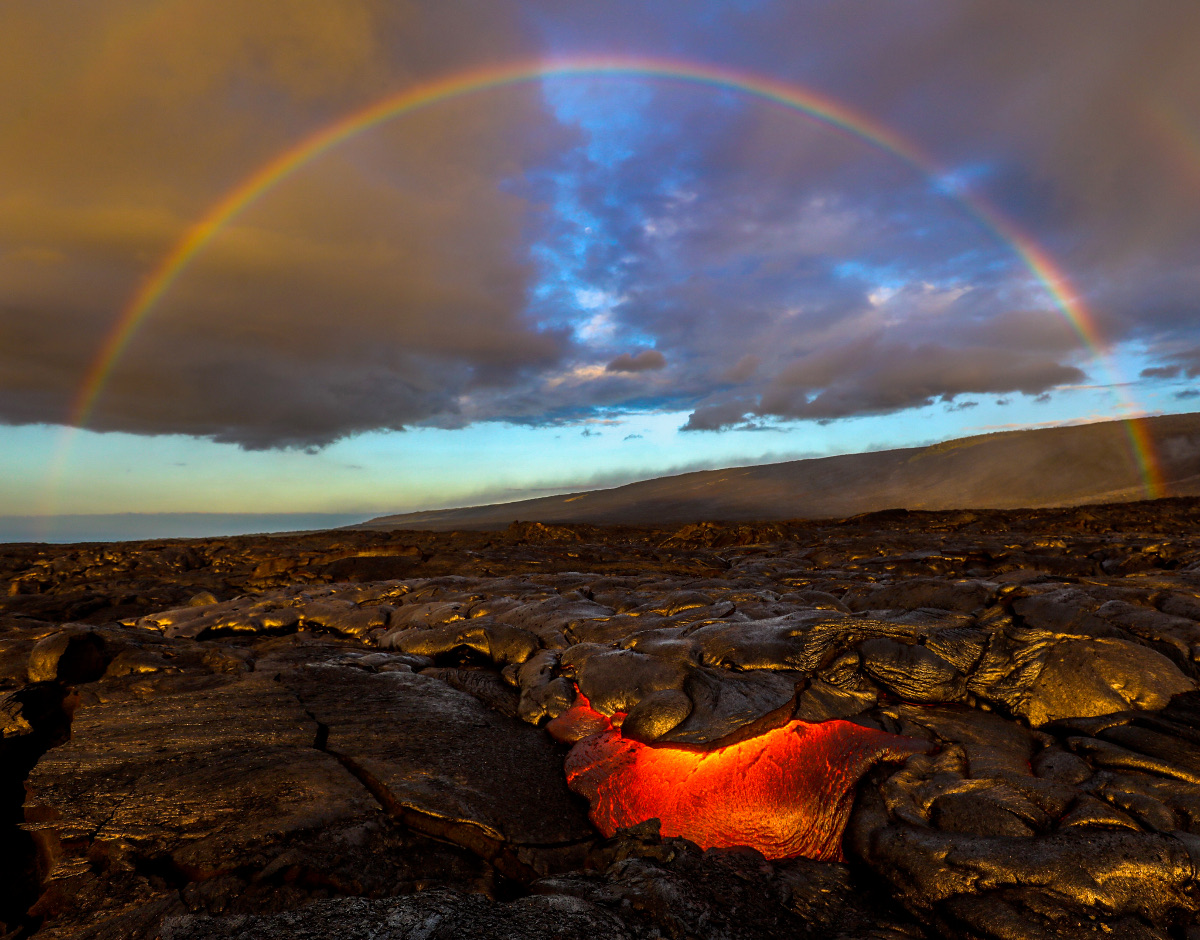 Mesmerizing Lava Images Captured In Morning Hours