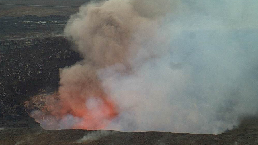 Multiple Rockfalls Recorded At Kilauea Volcano Lava Lake