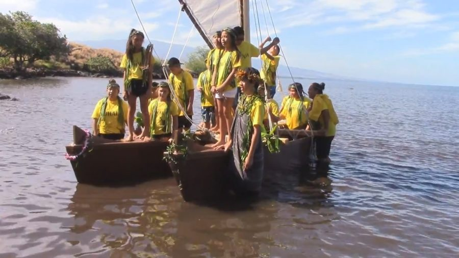 VIDEO: Canoe Built By Children Of Kohala Launched