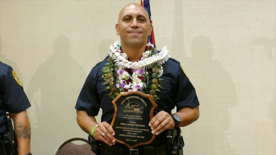VIDEO: Marco Segobia, Police Officer Of The Year In Kona