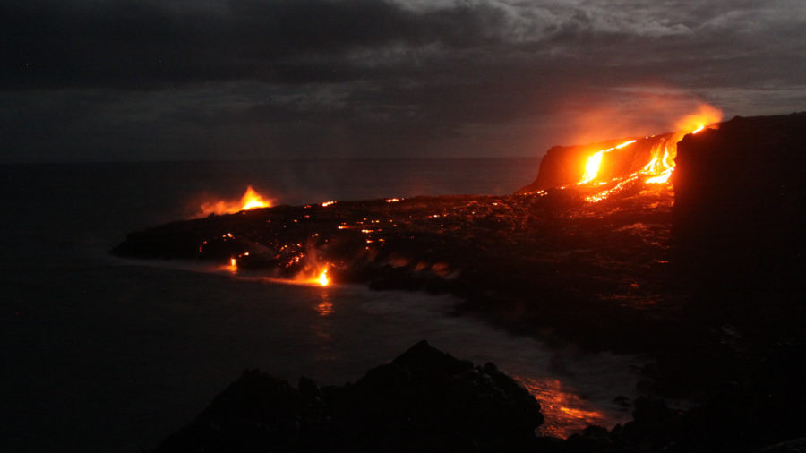 Coastal Lava Breakouts Put On A Show