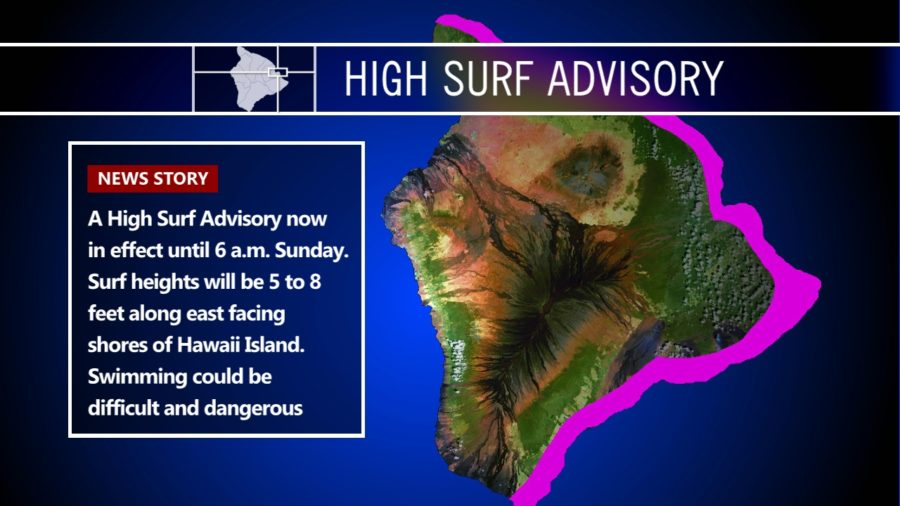 Hawaii High Surf Advisory Extended Into Monday
