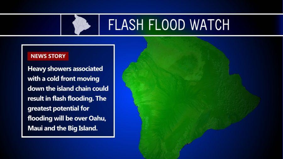 Flash Flood Watch, High Wind Watch For Hawaii