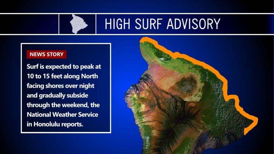 High Surf Advisory For Big Island Shores