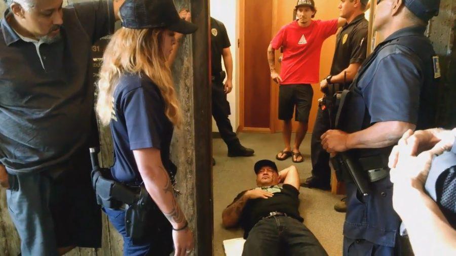 VIDEO: 3 Arrested After HULI Crashes BLNR Meeting Over TMT Vote