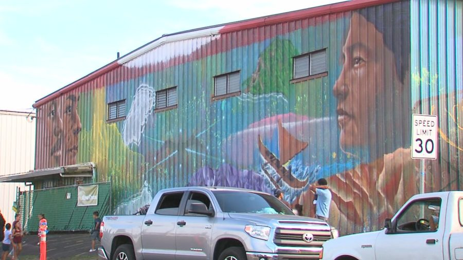 VIDEO: Finished Hilo Mural Celebrates Hawaiian Immersion Schools
