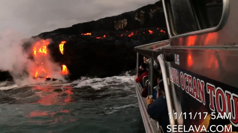 Lava Update: Inactive, Then Active, Kamokuna Ocean Entry