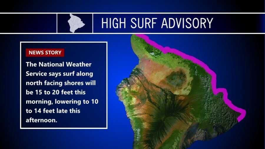 High Surf Advisory Continues Monday Morning