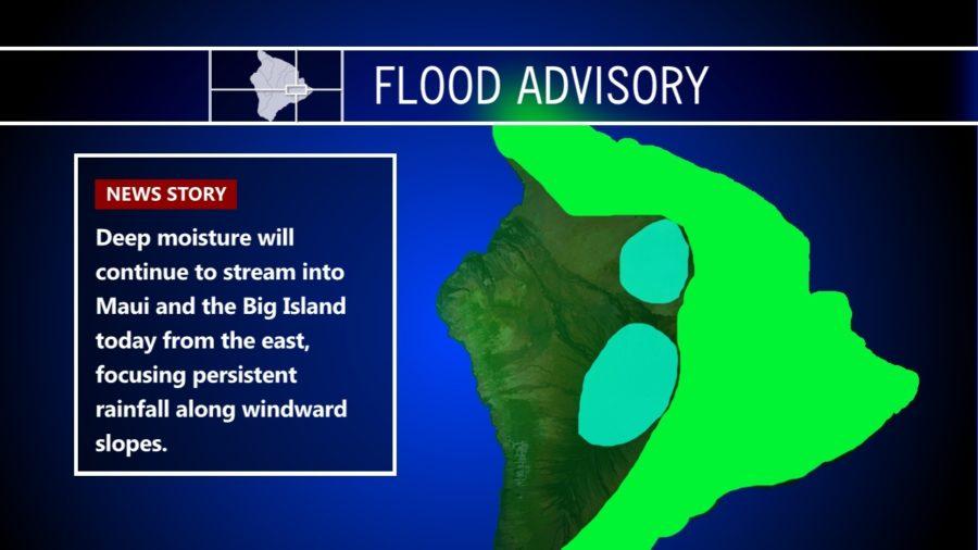 Heavy Rains Continue, Flood Advisory Extended Thursday Morning