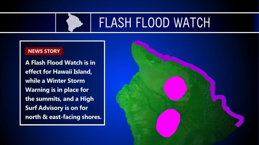 Heavy Rain Soaking Hawaii, Snow Continues On Summits