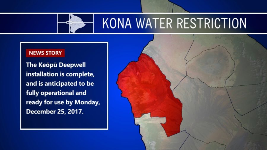 Kona Water Restriction Could Be Lifted On Christmas