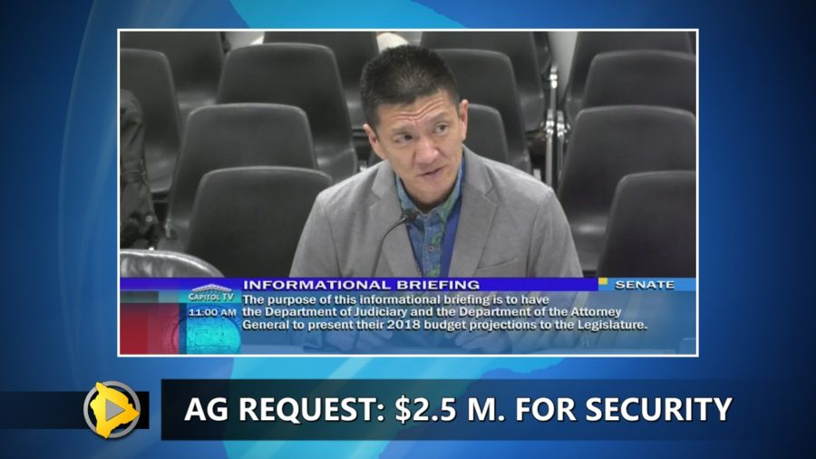 VIDEO: $2.5 Million Requested For State Security Operations