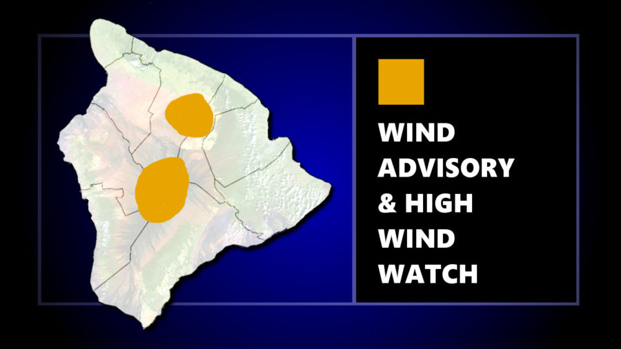 Wind Advisory, High Wind Watch For Hawaii Summits