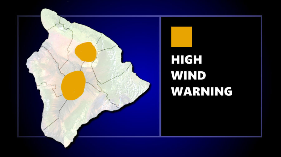 High Wind Warning In Effect For Hawaii Summits