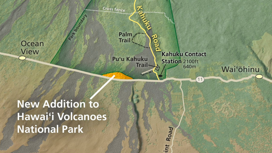 Hawaii Volcanoes Park Gains 222-Acres In Ka'u