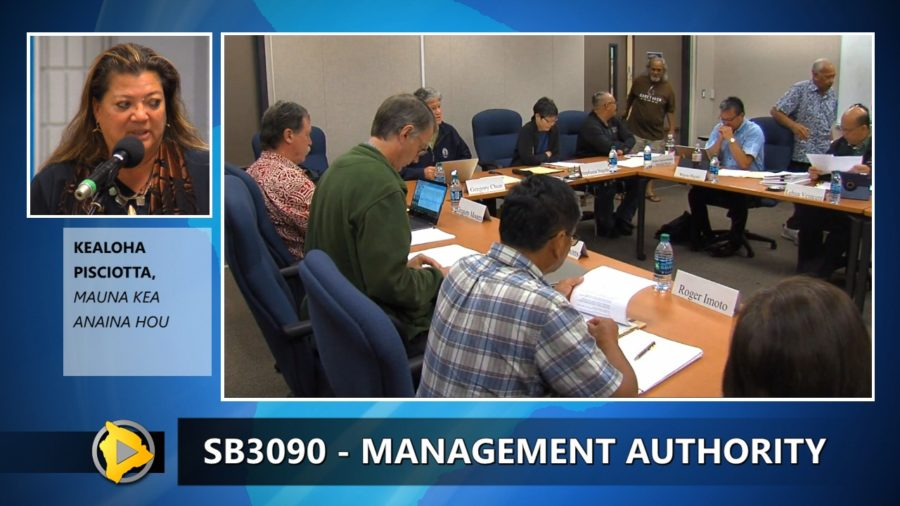 VIDEO: Talking Mauna Kea Management Authority Senate Bill 3090