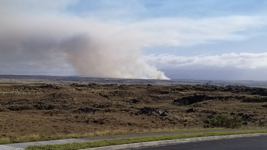 Burning Brush Fire Closes Highway 190